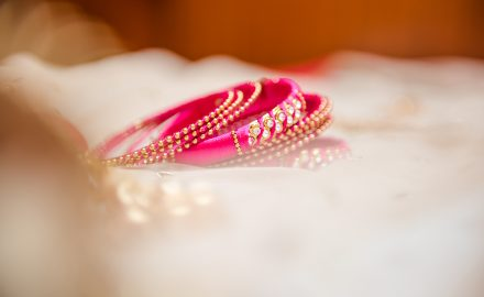 assorted bangles usually a matching with the bride dress