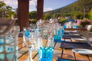 La Balise Marina Mauritius table setup