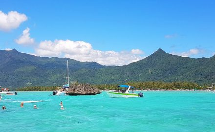 crystal rock, mauritius found at le morne a great tourist attraction