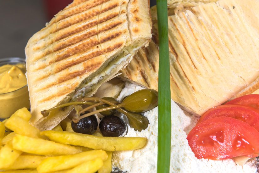 Mauritian Panini with smoked chicken