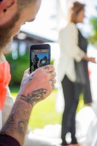 tattoo man capturing memories