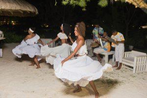 Sega Mauritius where women are dancing on the beat of ravanne