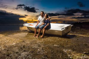 pre wedding photoshoot for couple sun an awesome sunset